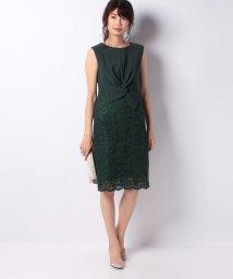 Eimy Peral/ネジリリボンデザインレースタイトドレス/501251680