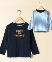 coen/【coen キッズ / ジュニア】ロゴリバーシブルロングTシャツ(ロゴt)(100~150cm)/501252721