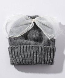petit main/チュールリボンつきニット帽/501252802