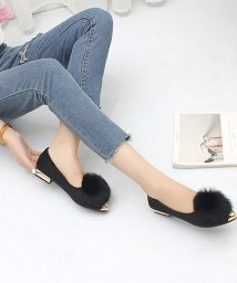 miniministore/ファーパンプス レディース ローヒール ぺたんこ靴 美脚 履きやすい/501264395