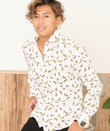 Garson Wave/GarsonWave【ギャルソンウェーブ】日本製LIFEベースボール柄オックスフォードレギュラーカラー長袖シャツ/501265450