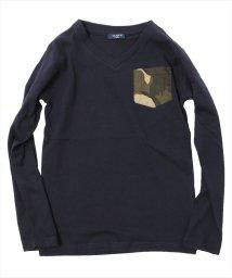GLAZOS/Vネックカモフラポケット長袖Tシャツ[2色展開]/501265805