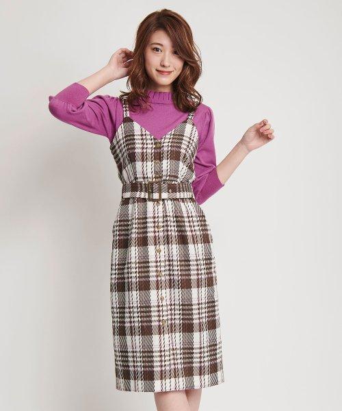 Noela(ノエラ)/【Ray12月号掲載】オリジナル綾チェックワンピ/5863019
