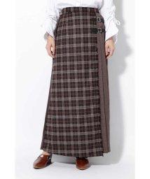ROSE BUD/チェックプリントプリーツスカート/501124582