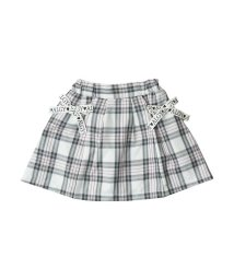 ALGY/チェックサイドりぼんスカート/501217055