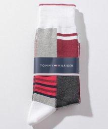 TOMMY HILFIGER MENS/アシンメトリーデザインソックス/501255653