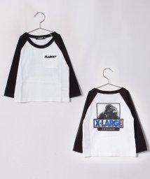 XLARGE KIDS/バックOGラグランTシャツ/501260767