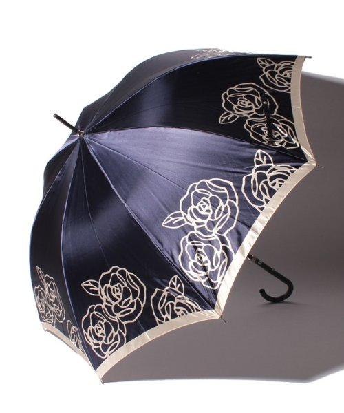 LANVIN Collection(umbrella)(ランバンコレクション(傘))/LV 婦人BJ耐風長Pサテンプリント/210832164000