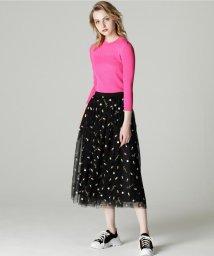 GRACE CONTINENTAL/カプセル刺繍スカート/501270470