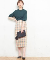 NICE CLAUP OUTLET/【セットアップ対応商品】【natural couture】マドラスチェックナロースカート/501247207
