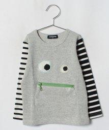kladskap/袖ボーダーおばけ長袖Tシャツ/501258270