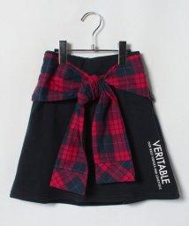 Lovetoxic/チェックシャツウエスト巻き風裏毛台形スカパン/501258294