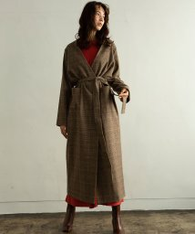 marjour/CHECK GOWN/501271465