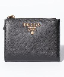 PRADA/【PRADA】SAFFIANO METAL ORO/2つ折り財布【NERO】/501272233