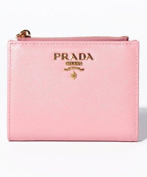 PRADA(プラダ)/【PRADA】2つ折りコンパクト財布 / SAFFIANO METAL ORO 【PETALO】/1ML023QWA442