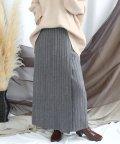ANDJ/ラップダブルリブロング丈スリットニットスカート/501272264