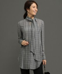 ICB(LARGE SIZE)/【セットアップ】Sheer Check ブラウス/501272403