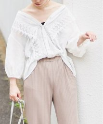 NICE CLAUP OUTLET/【natural couture】レース使いヴィンテージブラウス/501232696