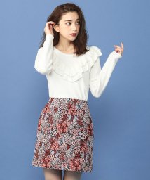 MIIA/【WEB限定】ふくれジャガード台形スカート/501255664