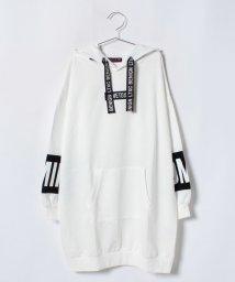 Lovetoxic/袖ブロッキングパーカワンピース/501258308