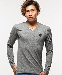 VIOLA/VIOLA【ヴィオラ】プリント入りVネック長袖Tシャツ/501272974