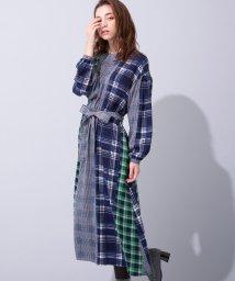 en recre/ブルーWebカラー限定【Le mien】ワンピ-ス/501251202