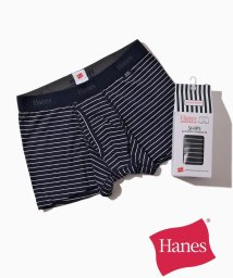SHIPS MEN/Hanes×SHIPS: 消臭糸使用 コットン ストレッチ ボーダー ボクサーパンツ/501277658
