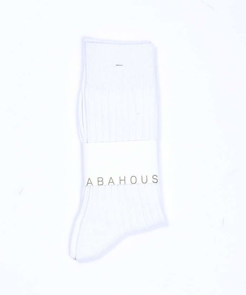 ABAHOUSE(ABAHOUSE)/無地リブソックス/00370065001