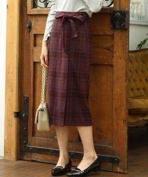 ViS/【WEB限定】チェックジャガードリボンツキタイトスカート/501280052