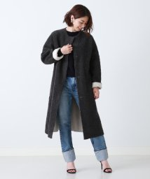 Demi-Luxe BEAMS/Demi-Luxe BEAMS / ノーカラー ボアコート/501281022
