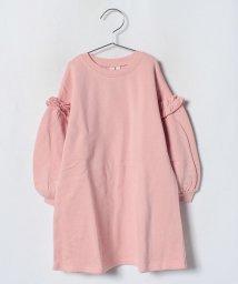 LAGOM/肩フリル裏毛ワンピース/501258086