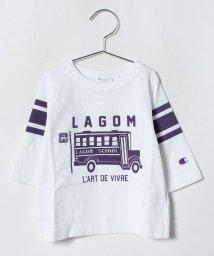 LAGOM/<Champion別注>バスプリント7分袖TEE/501258091