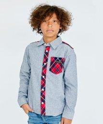 KRIFF MAYER(Kids)/MIXチェック柄ネルシャツ(140~160cm)/501260787