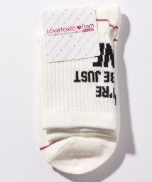 Lovetoxic/配色ラインクルーソックス/501267448