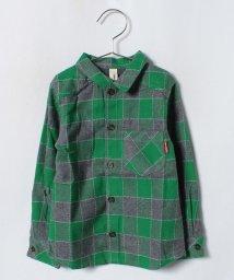 Green Parks(Kids)/cucciolo ビエラチェックシャツ/501271364