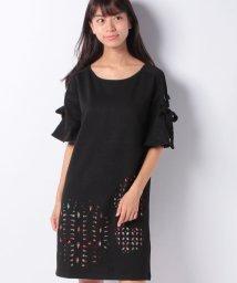 Desigual/「Desigual/デシグアル」Aライン五分袖ドレス、レザーカット/501054617