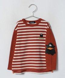 kladskap/袖おばけボーダーTシャツ/501267438