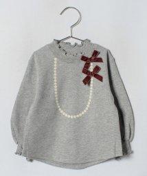 petit main/ネックレスプリント裏毛Tシャツ/501267574