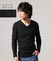THE CASUAL/(バイヤーズセレクト) Buyer's Select ランダムテレコ Vネック 長袖 カットソー/501276971