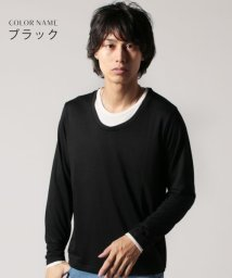 THE CASUAL/(スプ) SPU TR天竺フェイクアンサンブルUネック長袖カットソー/501276981
