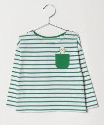 Green Parks(Kids)/ワンワンポケットボーダーロンT/501278175