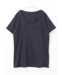 HAPPY EXP/綿100%ラウンドネック胸ポケシンプルTシャツ/501281649