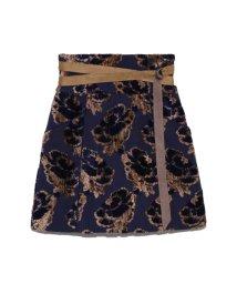 Lily Brown/ジャガードミニ台形スカート/501283482