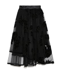 Lily Brown/ベロア刺繍ヘムラインスカート/501283486