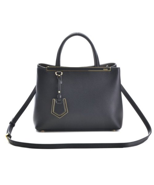FENDI(フェンディ)/【FENDI】2 JOUR / 2WAY BAG 【BLACK+COAL】/8BH2533WLF06M1