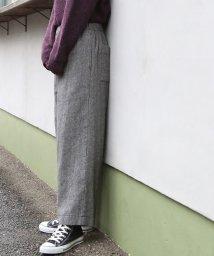 coen/【手洗いできる】ウォッシャブルウール混イージーワイドパンツ/501284873