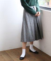 coen/【手洗いできる】ウォッシャブルウール混タックフレアスカート/501284875