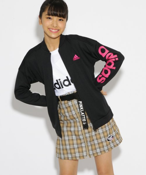 PINK-latte(ピンク ラテ)/adidas 袖ロゴジャージジャケット/99990931941003