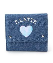 PINK-latte/ハートウィンドウ三つ折財布/501285093