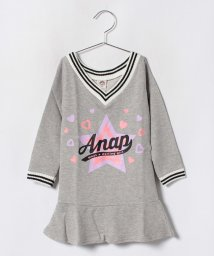 ANAP KIDS/ラインリブ裾フレアワンピース/501268826